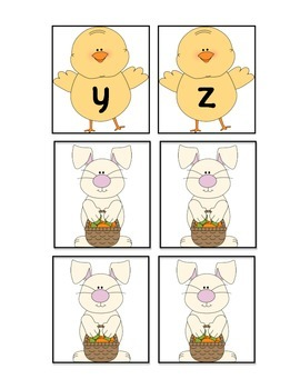 Easter ABC Game Freebie - Lowercase letters