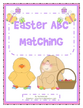 Easter ABC Matching - Uppercase and Lowercase