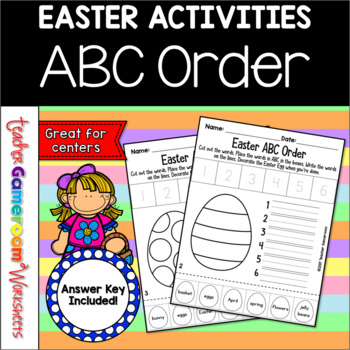 Easter ABC Order Center Activity