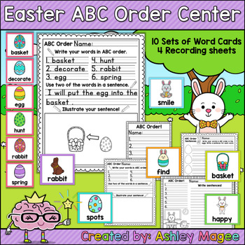 Easter ABC Order Center/Station with differentiation options