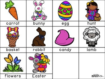 Easter ABC Order Cut and Paste FREEBIE: Level 2