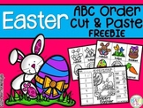 Easter ABC Order Cut and Paste Printable---FREEBIE