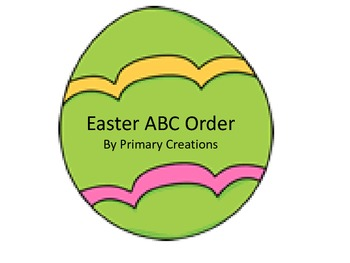 Easter ABC Order Freebie