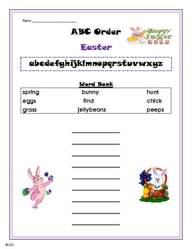 Easter ABC Order Practice - primary