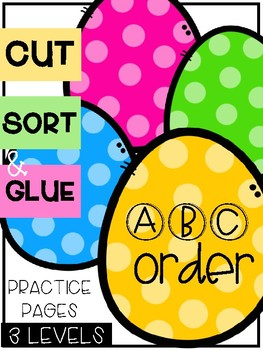 Easter ABC Order Sorts (3 Levels)