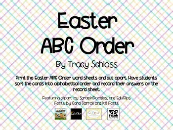 Easter ABC order, Spring