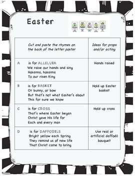 Easter ABC play for early readers