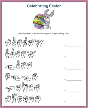 Easter (ASL Fingerspelling)