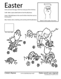 Easter ASL activity sheet.  American Sign Language