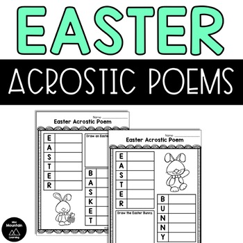 Easter Acrostic Poem Teaching Resources | Teachers Pay Teachers