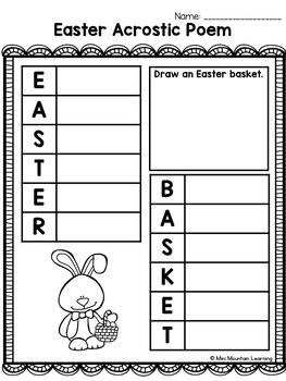 Easter Acrostic Poems