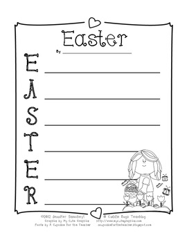 Easter Acrostic Poem from Cuddle Bugs Teaching