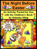 Easter Reading Activities: Night Before Easter Activity Packet - Color Version