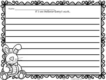 First Grade Literacy and Math Easter Printables
