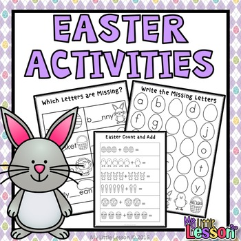 Easter Activities: Math and English Worksheets