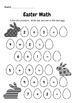 Easter Activities - Addition, Geometry, Patterns, Counting, & Wordsearch