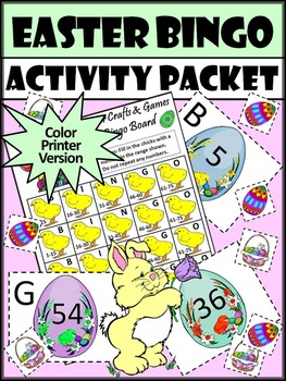 Easter Game Activities: Easter Bingo Game Activity Packet