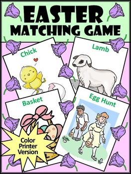 Easter Activities: Easter Vocabulary Matching Card Game