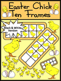 Spring Activities: Easter Chicks Spring Ten Frames Math Activity Packet - BW