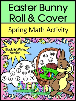Easter Game Activities: Easter Bunny Easter Roll & Cover Spring Math Activity