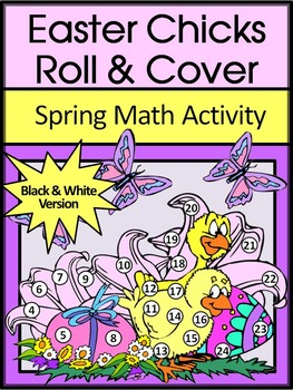Easter Game Activities: Easter Chicks Easter Roll & Cover Spring Math Activity