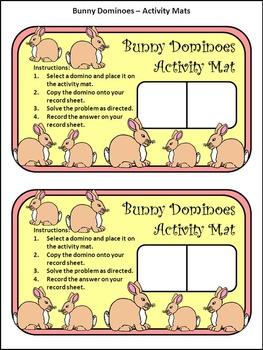 Easter Math Activities: Bunny Dominoes Spring Activity Packet