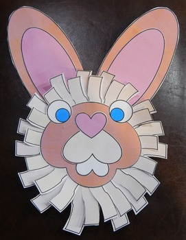Easter Art Activities: 3D Easter Bunny Spring Craft Activity Packet