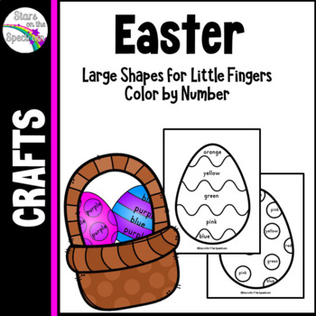 Easter Coloring (Color by Color Words)