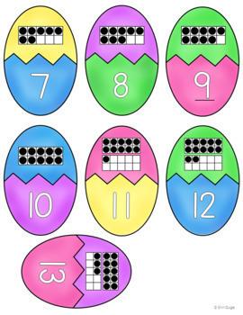 Easter Activities: Beginning Sounds, Upper/Lowercase, Ten Frames, Base Ten