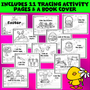 Easter Activities Bundle : Literacy, Math, Tracing, Crowns, and Wristbands