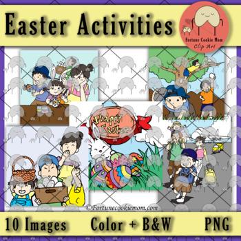 Easter Activities' Clip Art