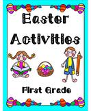 Easter Activities First Grade (Literacy & Math)