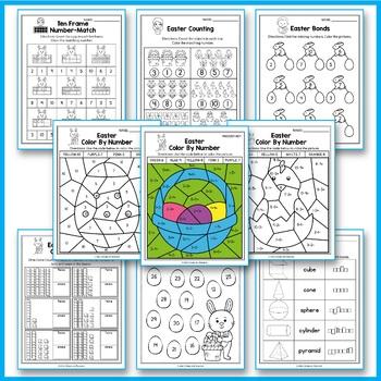 Easter Activities For Kindergarten - Easter Math Worksheets #springintosavings