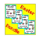Easter Activities K-3 Bundle (Literacy & Math)