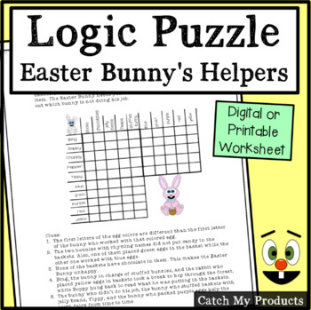 Easter Activities : Logic Puzzle About The Easter Bunny an