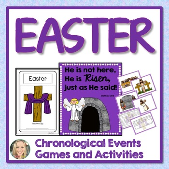 Easter Activities, Mini Book, Sequencing Game, Teaching Posters, Coloring Pages