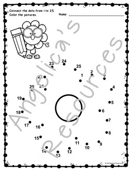 Easter Activities : Number Sense - Dot to Dot - Counting