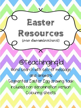 Easter Activities Pack (Non Denominational)