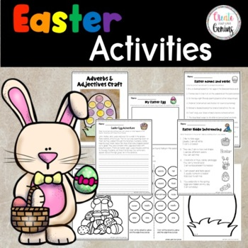 Easter Activities- Writing, Inference, and Coloring