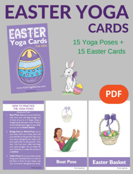 Easter activities yoga cards for kids by kids yoga stories tpt easter activities yoga cards for kids m4hsunfo