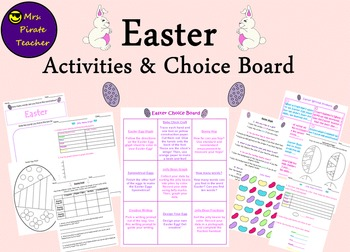 Easter Activities and Choice Board