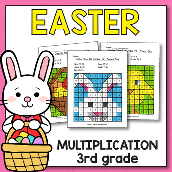 Easter Activities for 3rd Grade - Easter Multiplication Worksheets