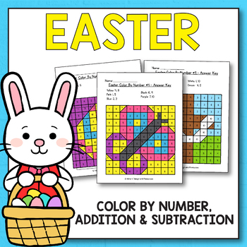 Easter Activities for Kindergarten - Easter Math Worksheets