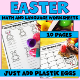 Easter Activities with Plastic Eggs for Math and Language