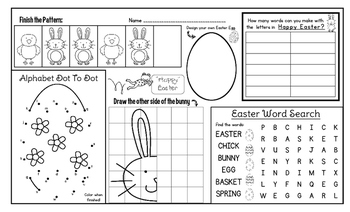 Easter Activity Mat - A Page FULL Of Easter and Spring Activities!
