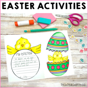 Easter Activity Pack: Math Problem Solving, Craft, Word Search & Crossword
