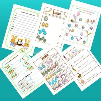 Easter Activity Pack for Kindergarten Students