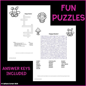 Easter Activity Packet
