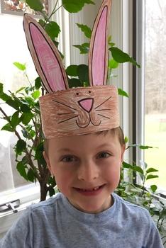 Easter Bunny Craft* {Rabbit Ear Printable Hat Bunny Headband}