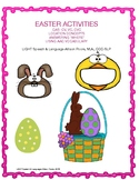 Easter Activity for CAS, Expressive/ Receptive Language and AAC